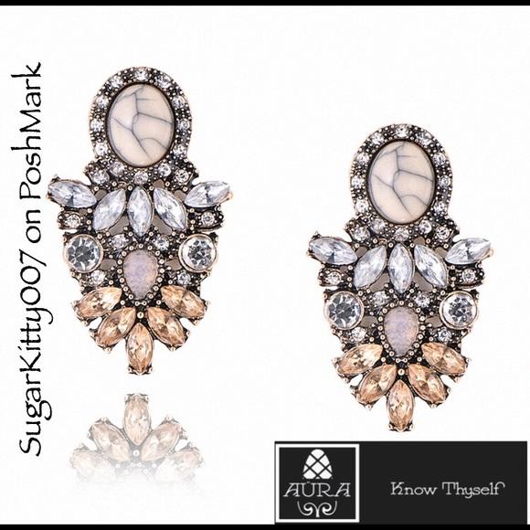 Aura Jewelry - Citrine Topaz Gemstone Earrings